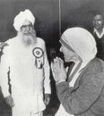 Sant Darshan Singh with Mother Teresa